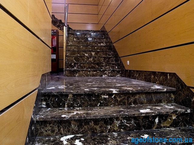 лестница из мрамора имперадор дарк изготовление киев