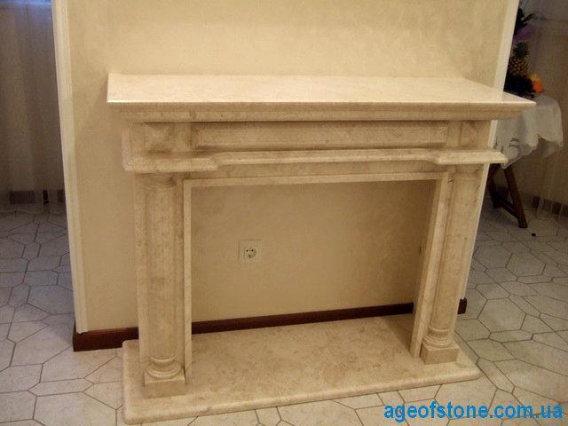 мраморный портал из бежевого мрамора в наличии и под заказ