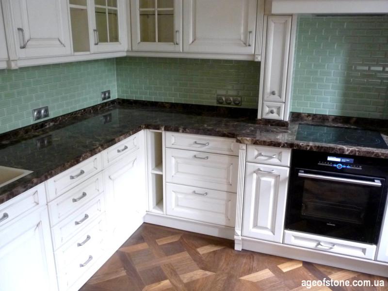 Кухонная столешница из мрамора Импирадор Дарк